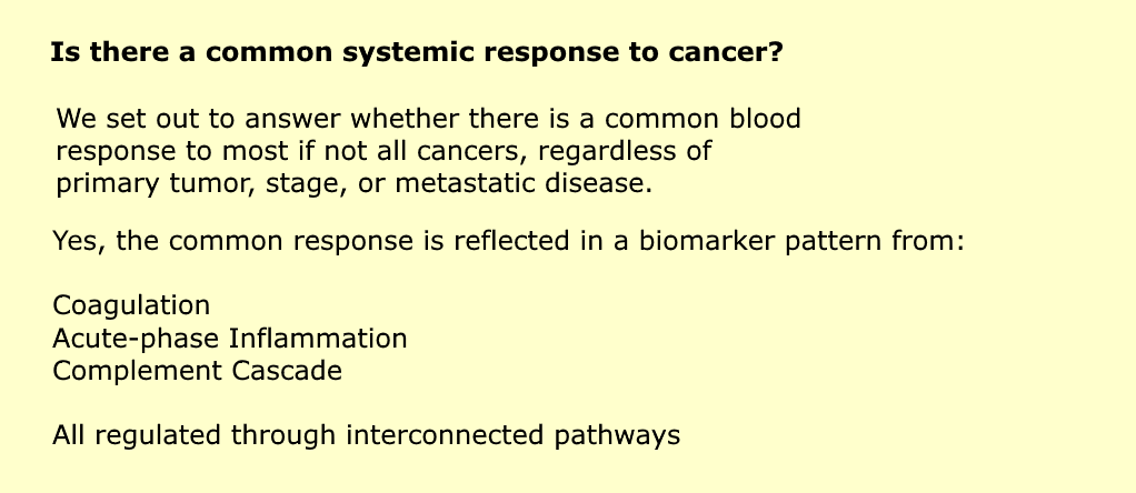 Is there a common systemic response to cancer?